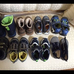 Stride Rite, Carters, Gap, Sperry kid shoes size 9